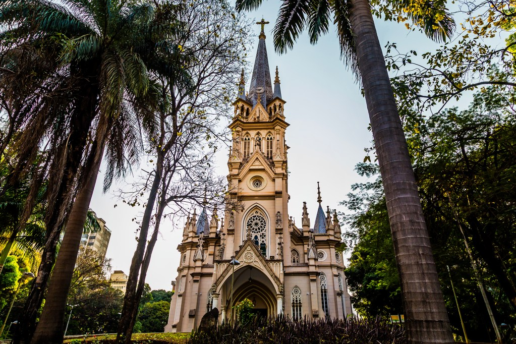 Our Lady of Good Voyage Cathedral at Belo Horizonte, Minas Gerais, Brazil