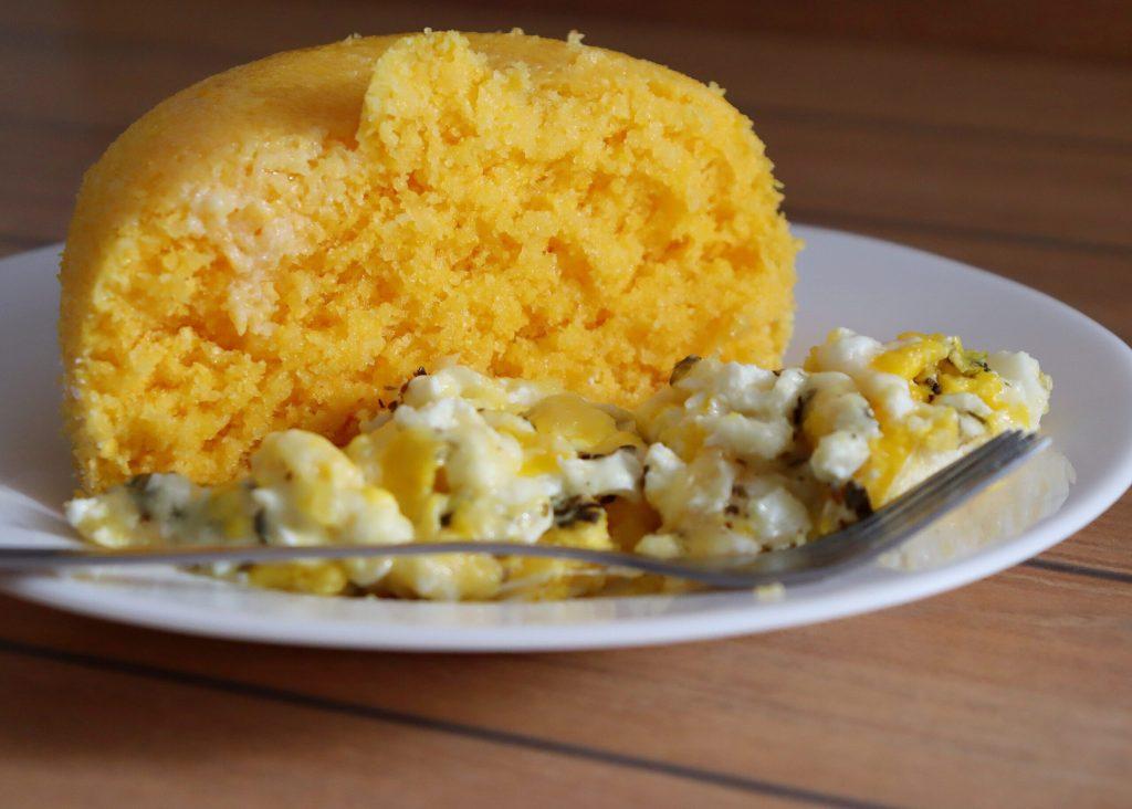 Brazilian couscous. Cornmeal. Brazilian breakfast.