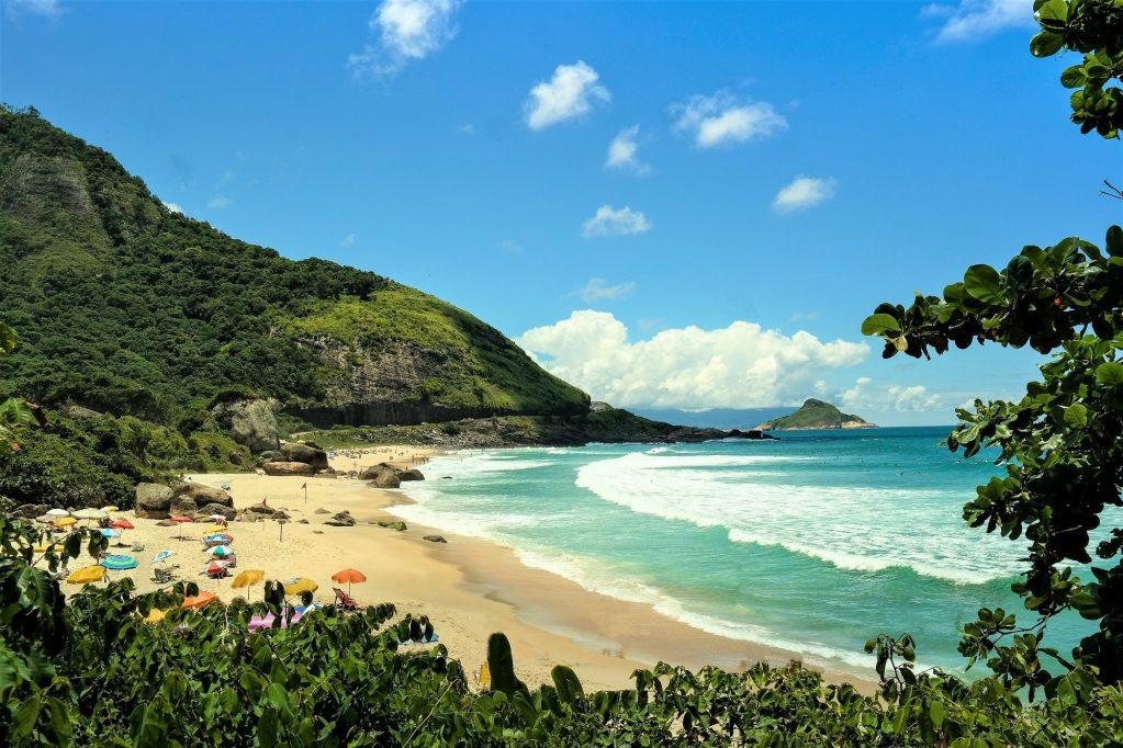 Famous surfer point in Rio de Janeiro