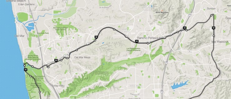 San Diego Cycling - Poway Cycle Route Part 1
