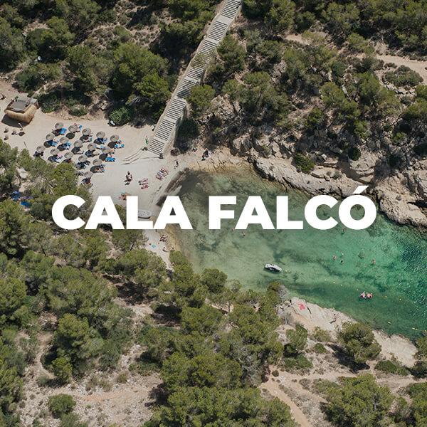 Cala Falcó, cerca de Magaluf, una de las playas más espectaculares de Mallorca