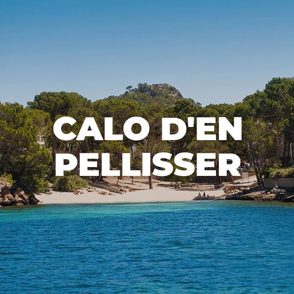 Caló d'en Pellisser en Peguera (Cala Fornells). Playa de Torà en Peguera. Calvià: playas espectaculares en Mallorca