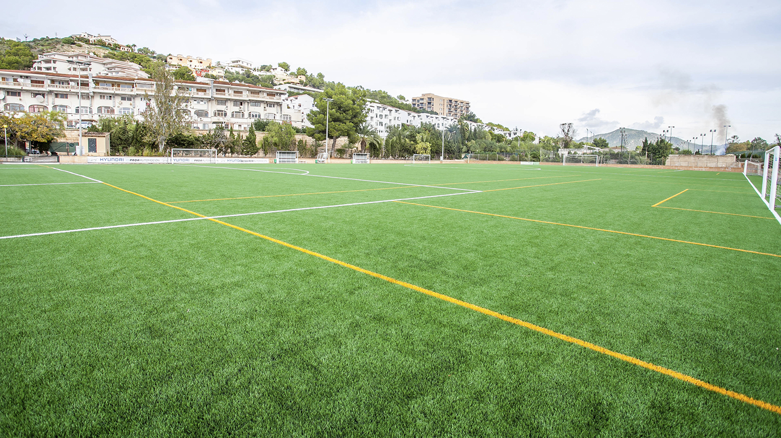 Santa Ponça Football. Preseason training in Mallorca. Football pitch. Entrenar fútbol en Mallorca