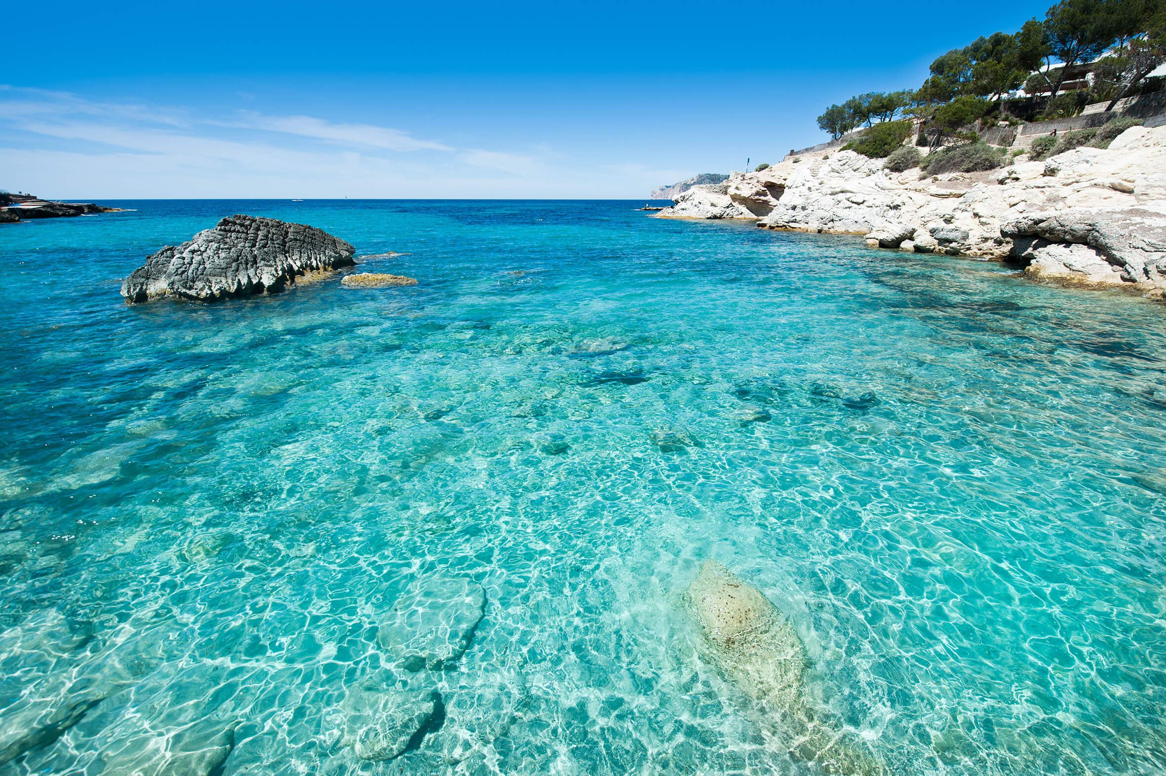 Playa Cala Blanca - Mallorca. Cala Blanca beach - Majorca