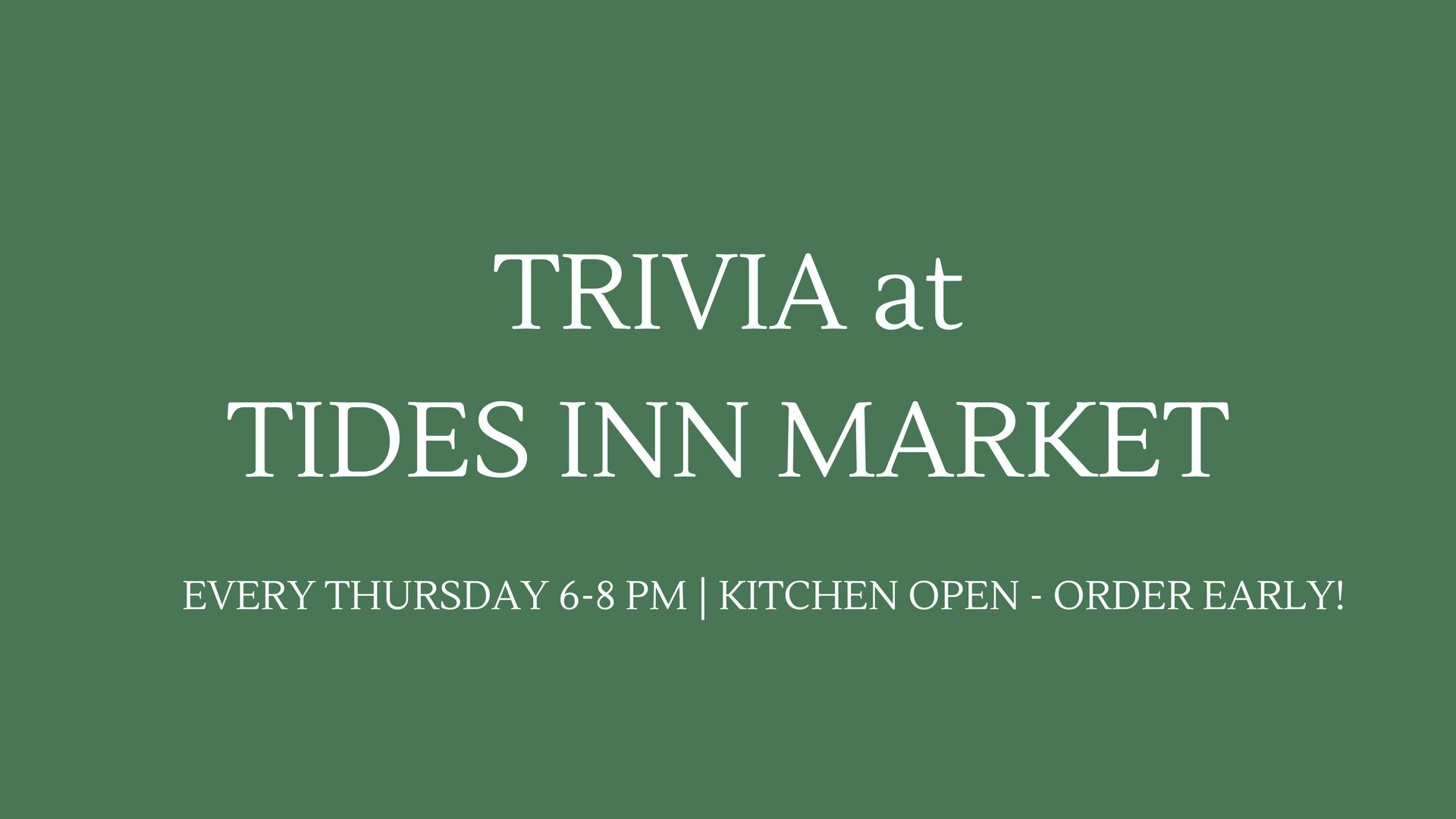 Thursday Trivia at Tides Inn