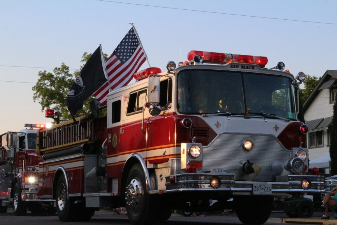 Fire Truck Parade during Colonial Beach's Potomac River Festival