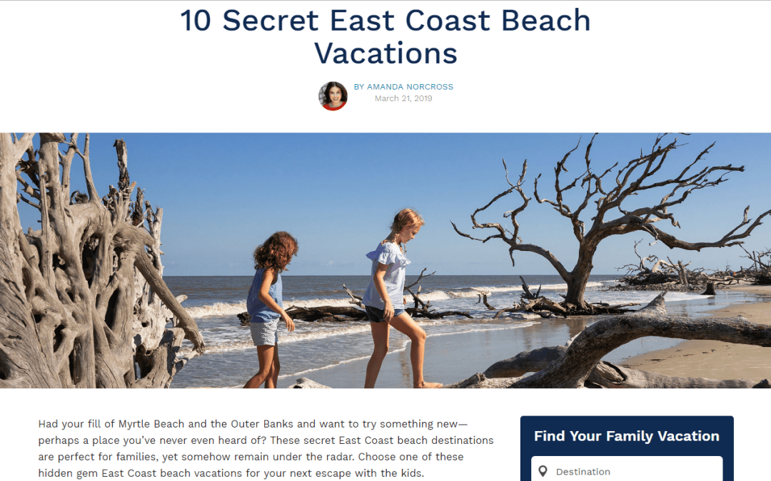 CBVA Named Top Secret East Coast Beach Vacation by TripAdvisor's Family Vacation Critic