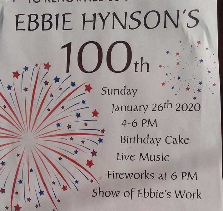 Ebbie Hynson's 100th Birthday Celebration
