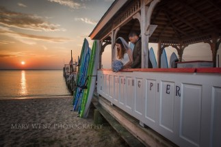 colonial beach wedding