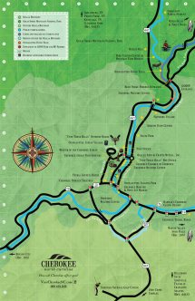 Cherokee NC Trout Fishing Map