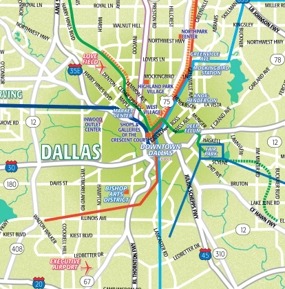 Downtown Dallas and Surrounding Area