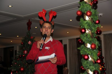 Cruise Manager Nick briefs us about our next excursions on our AmaWaterways Christmas Market Cruise 2015