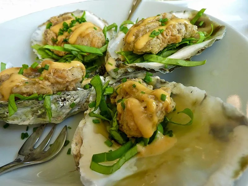 Fried Oysters at Bistro Poplar