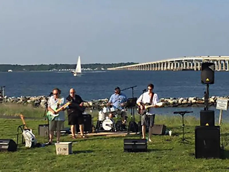 Blackwater performs on the riverfront