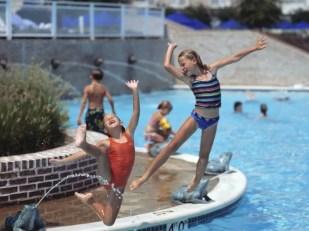 Swimming at the Hyatt