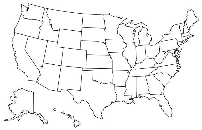 Hold ctrl and move your mouse over the map to quickly color several states. Map Of States Visited Us State Map Usa Map With Color States Color States Map