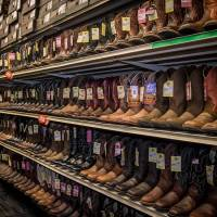 cowboy boots at bluestem farm and ranch