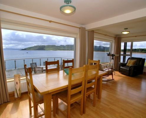 Golf Lodge at Portsalon Donegal - dining area