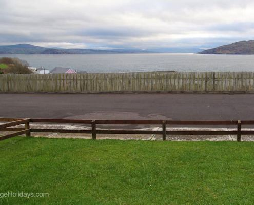 View over Lough Swilly from holiday home