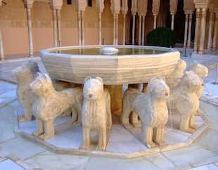 alhambra-fountain-Lions