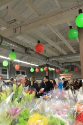 Holiday flowers and Holiday cheer at the Merry Maker Night Market