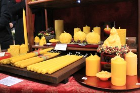 Beeswax Candles from Beelightful Candels, Merry Maker Night Market