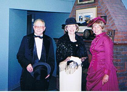 16 John Glass, Lt. Governor Trendholm, Doris Kennedy day of bridge birthday 2001