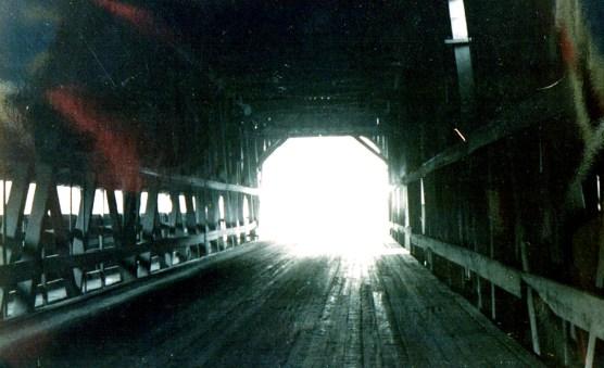 71 1922 bridge covered, wood plank floor