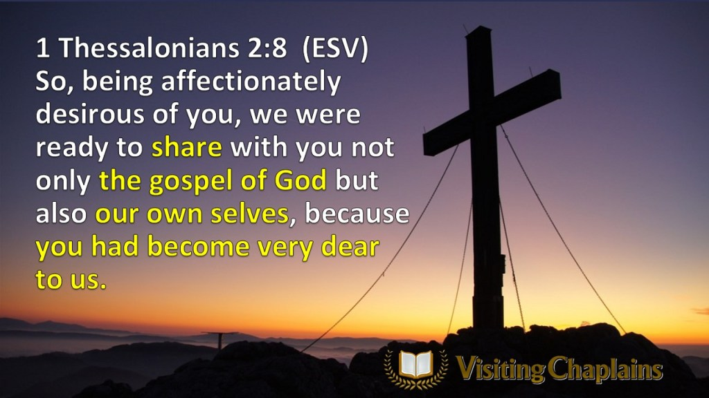 CLINICAL PASTORAL EDUCATION, FAITH & THE CHURCH, VOCATION 1 Thessalonians 28