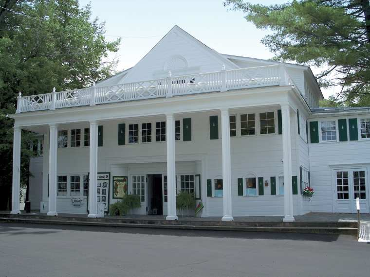 Lakewood Theater on the shores of Wesserunsett Lake.
