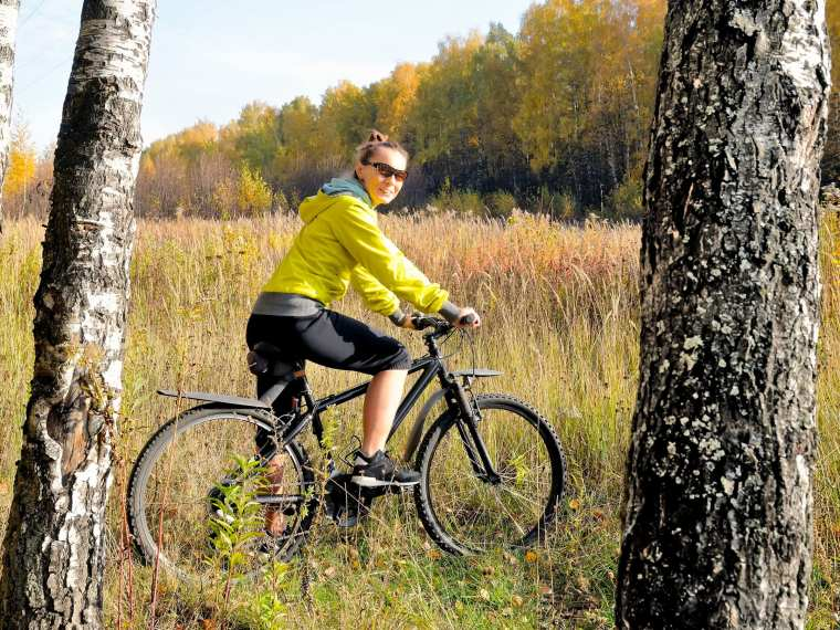 Many trails are not just for hiking. Grab your bike and check ahead.