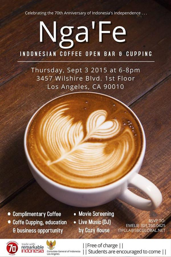 Nga'Fe: Indonesian Coffee Open Bar & Cupping