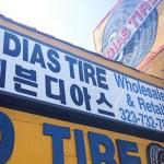 Koreatown tire shop