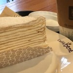 Caffe Bene LA coffee and cake