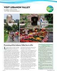 Central Penn Business Journal, Business Profiles 2018   Visit Lebanon Valley