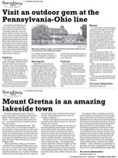 """Article featuring Mount Gretna as an """"Amazing Lakeside Town"""""""