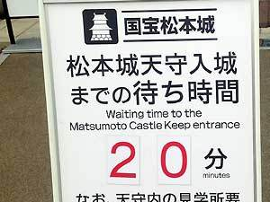When is Matsumoto Castle crowded?