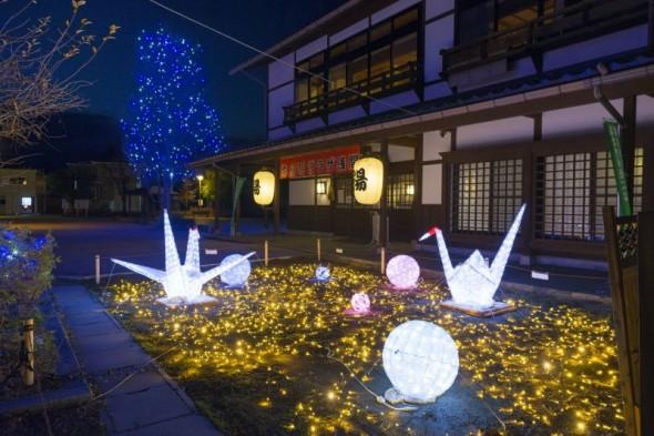 Japanese-Style Illumination at Asama Hot Spring Has Started!