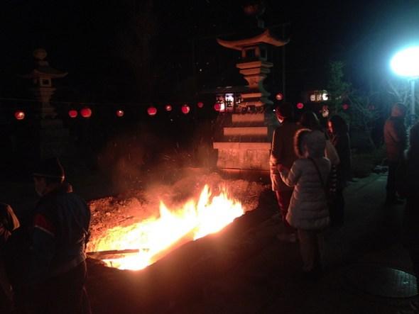 Giant bofire at Tosenji