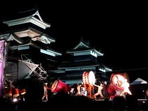 Taiko-Fest bei der Burg Matsumoto