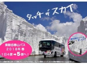 乗鞍岳・春山バスで、「雪の壁」観光。
