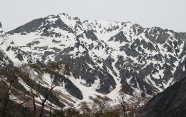 3190メートルの奥穂岳
