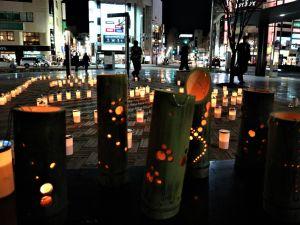 JR松本駅お城口広場冬のおもてなし キャンドルの灯&イルミネーション点灯式