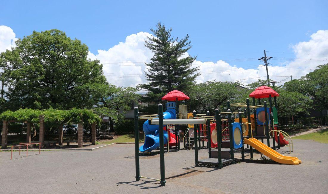 子供と遊べるあがたの森公園でブランコ楽しいな!