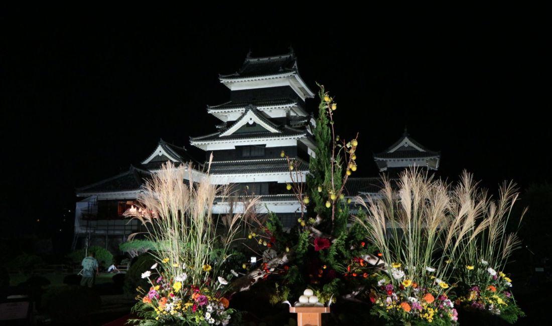 月の輝く夜「第20回国宝松本城月見の宴」
