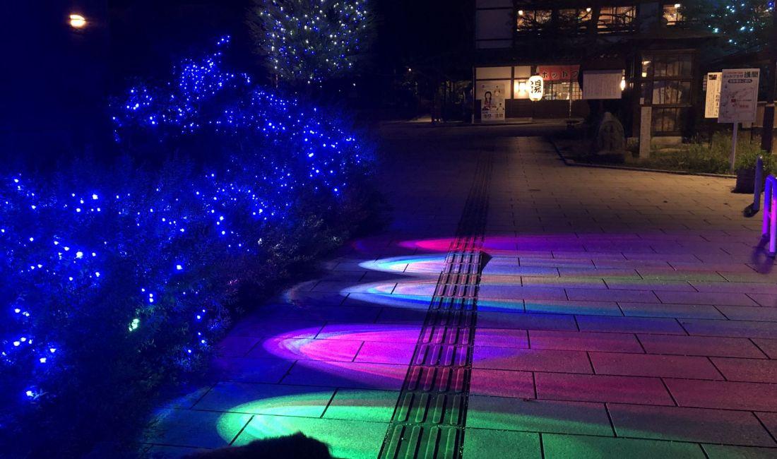 浅间温泉入口夏季灯会