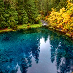 fall color - tamolitch blue pool