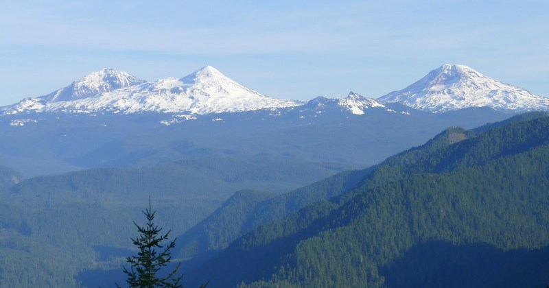 Three Sisters from O'Leary Trail