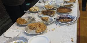 Table of pies during CDG's first Pi Day Fundraiser