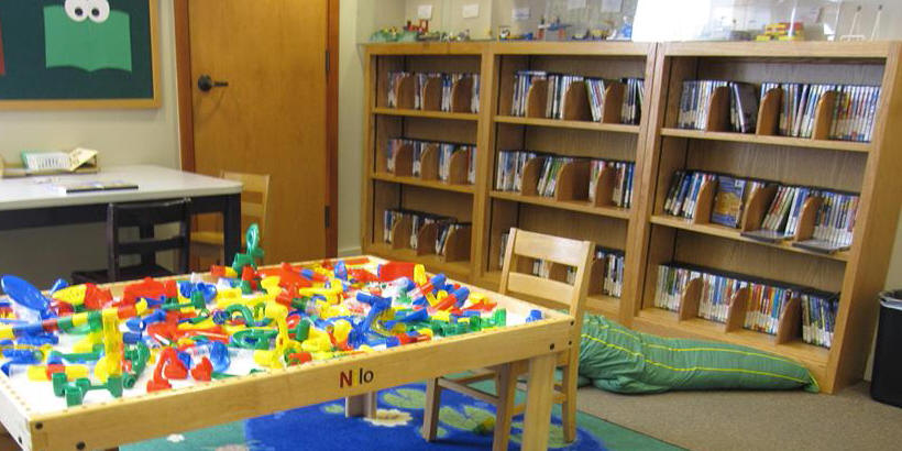 Photo of Children's Room Mount Vernon Public Library/Cole Library Books and Legos